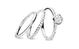 alianzas y anillos de compromiso de diamantes