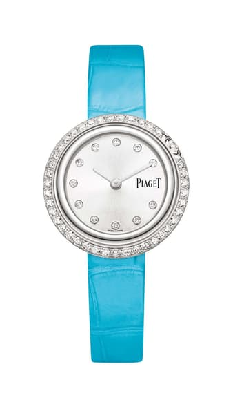 white gold and diamond Swiss watch for women