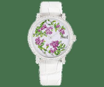 white gold and diamond watch