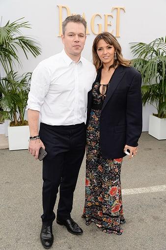 Matt Damon佩戴伯爵高級計時碼錶出席2017年美國獨立精神電影獎頒獎典禮