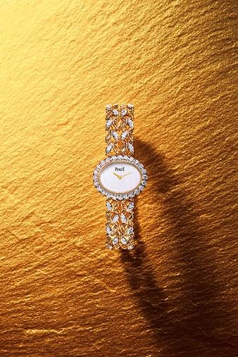 G0A41263 Sunny Side of Life玫瑰金鑲鑽腕錶