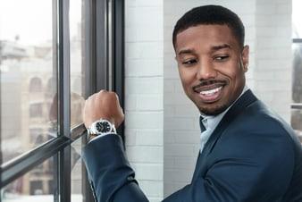 Michael B. Jordan佩戴Piaget Polo S高級腕錶