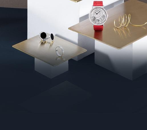 White gold diamond watch and luxury jewellery