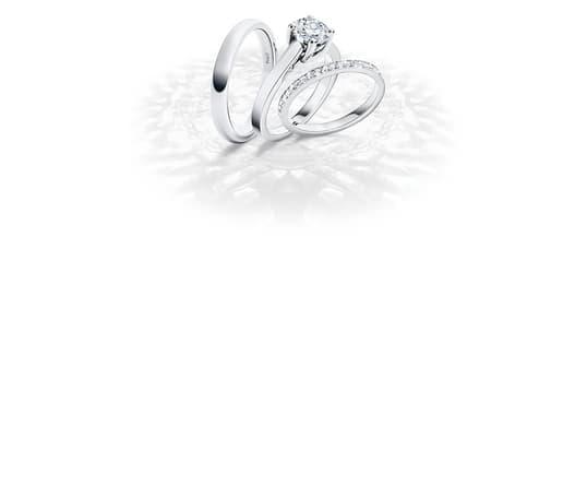 白金鑽石結婚指環