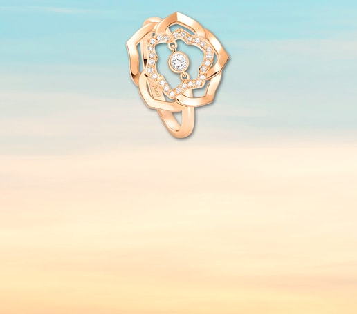Rose gold diamond ring for Valentine's day