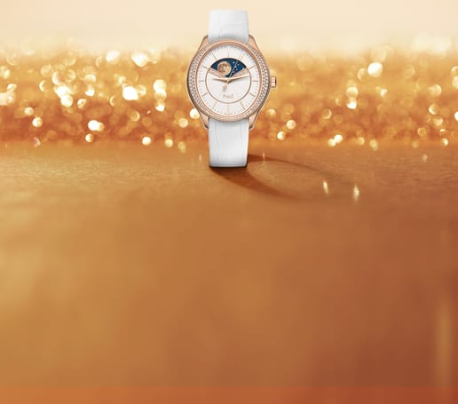 Piaget woman jewelry watch in rose gold set with diamond