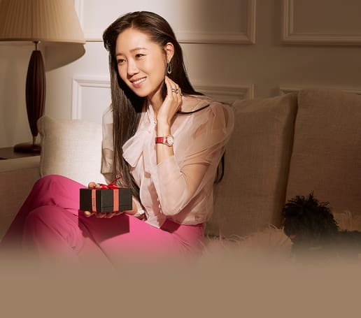 Kong Hyo-Jin wears a Piaget luxury women watch
