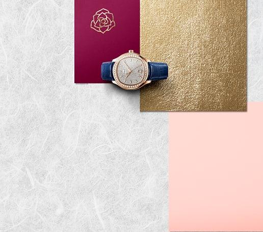 rose gold diamond watch for men