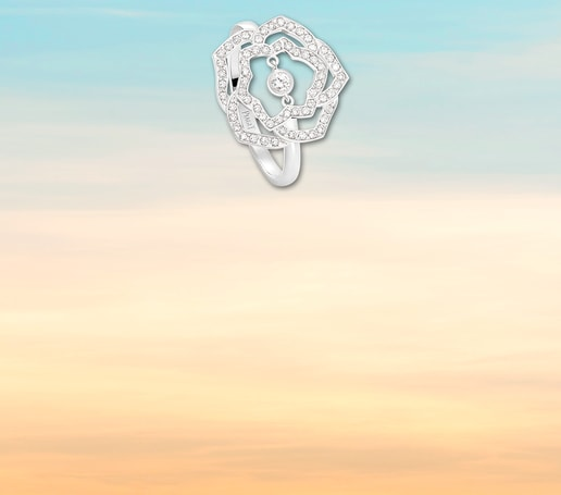 Bague en or rose et diamants pour la Saint-Valentin