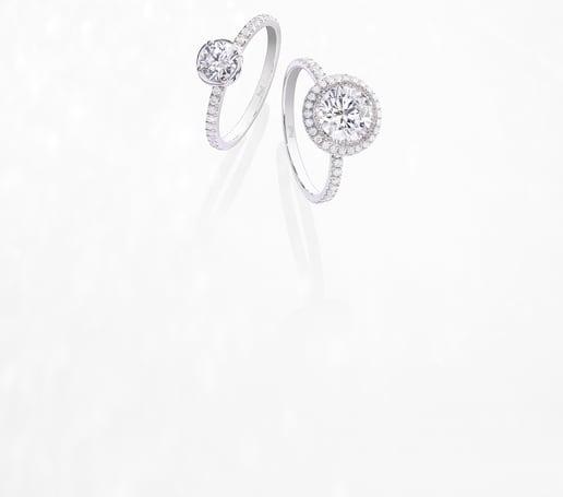 Piaget Verlobungsringe aus Weißgold mit Diamanten