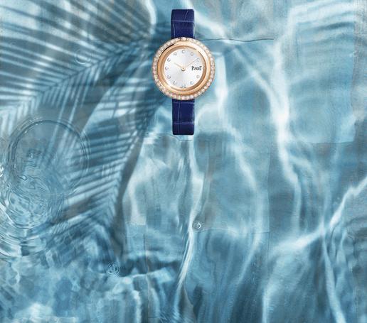 ساعة بياجيه بوسيشن للنساء من الذهب الوردي المرصع بالماس