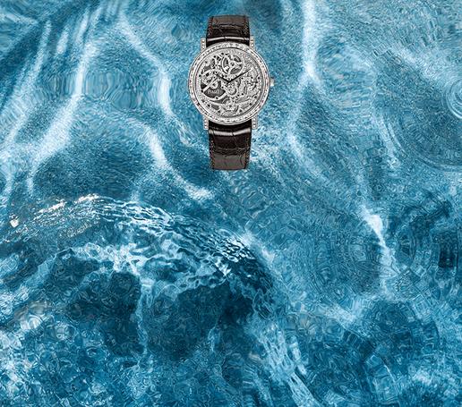 Skelettierte Haute Joaillerie Uhr aus Weißgold mit Diamanten von Piaget