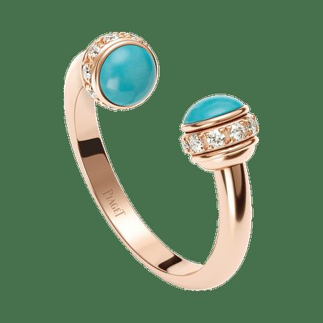 Rose Gold Turquoise Diamond Ring