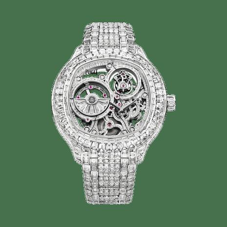 Uhr Tourbillon Skelettiert Weissgold Diamant Piaget Luxusuhr G0a39040