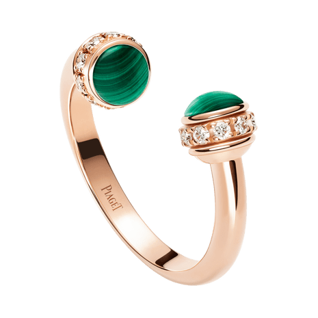 5005df9e87a Rose gold Malachite Diamond Ring G34P5D00 - Piaget Luxury Jewelry Online