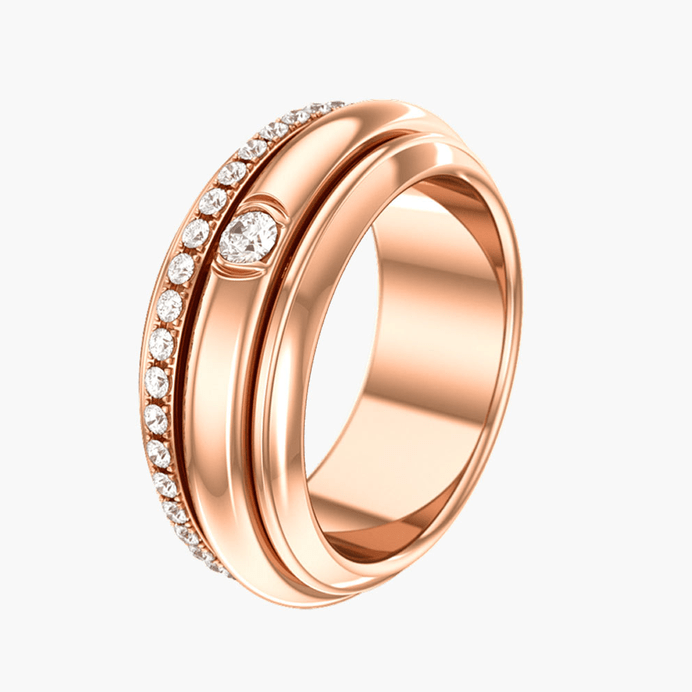 Rose Gold Diamond Ring G34p8a00 Piaget Luxury Jewelry Online