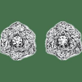 Piaget玫瑰耳環