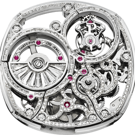 Movimiento tourbillon esqueleto engastado 1270D